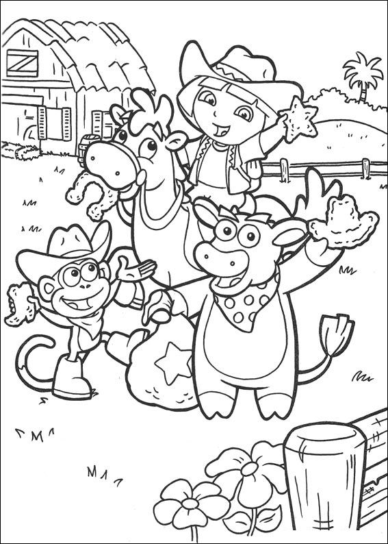 Kids N Fun Co Uk 27 Coloring Pages Of Dora The Explorer 2