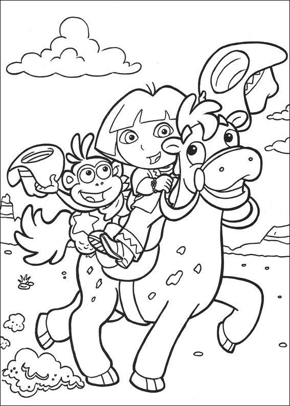 Kleurplaten Dora.Kids N Fun Com Coloring Page Dora The Explorer 2 Dora The Explorer 2
