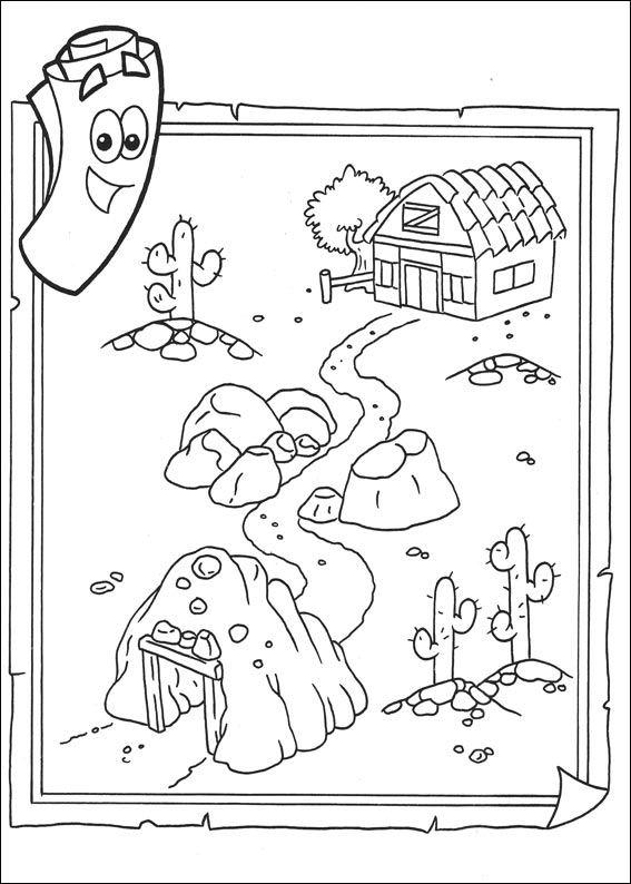 Kids n 27 coloring pages of dora the explorer 2 - Dessin a colorier de dora ...