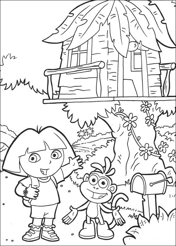 Kids-n-fun.com | 27 coloring pages of Dora the Explorer 2