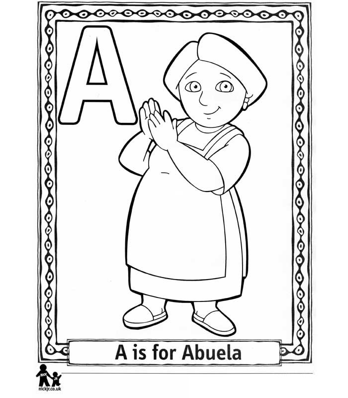 Kids N Fun Com Coloring Page Doras Alphabet Doras Alphabet The Explorer Coloring Page