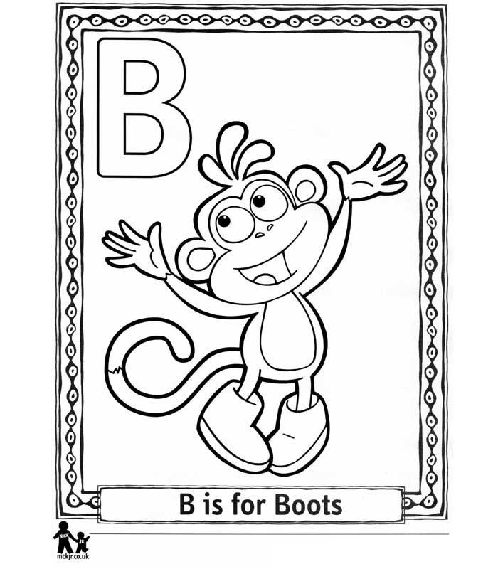 Doras Alphabet 26 Coloring Pages