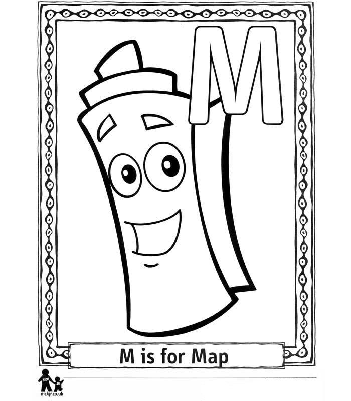 Kidsnfuncom  26 coloring pages of Doras Alphabet