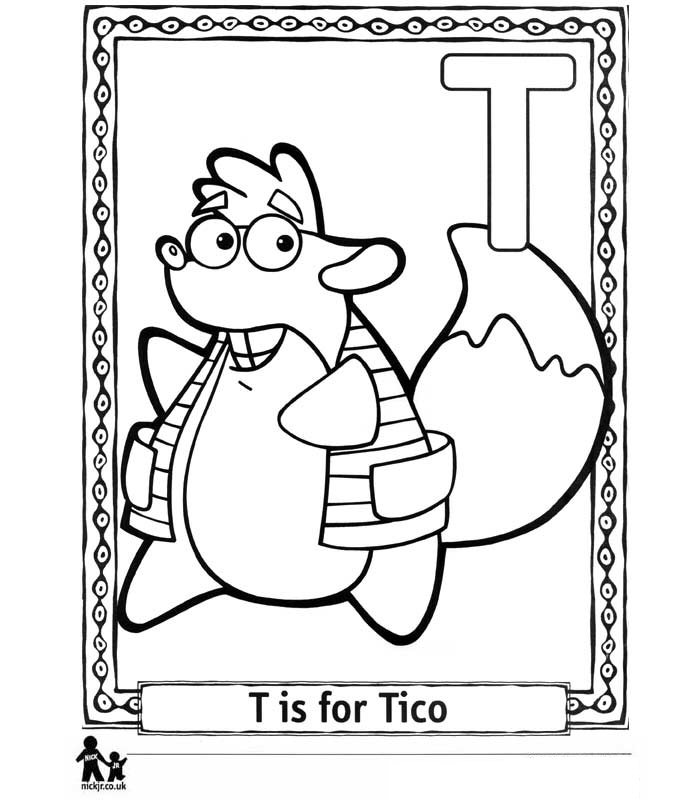 Kids N Fun 26 Coloring Pages Of Doras Alphabet