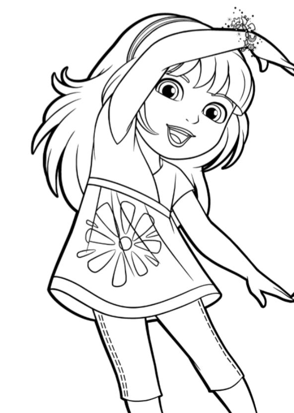 coloring pages with dora - photo#35