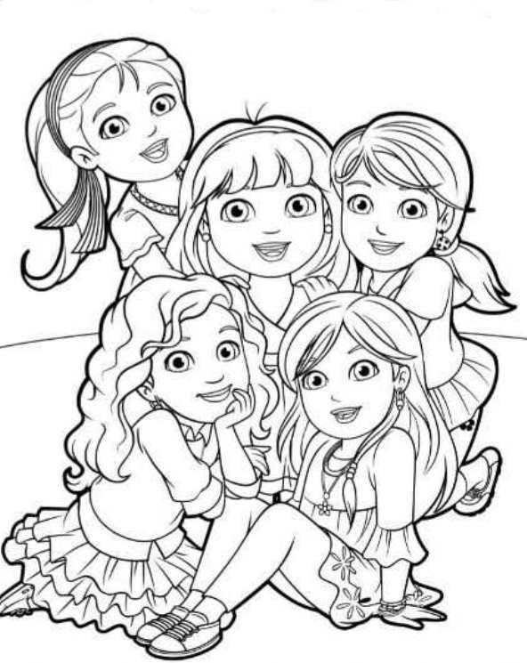 Kids N Fun Co Uk 6 Coloring Pages Of Dora And Friends