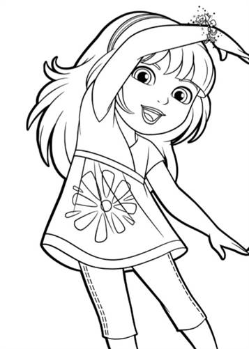 Dora and friends coloring pages nick ~ Kids-n-fun.com | 6 coloring pages of Dora and Friends