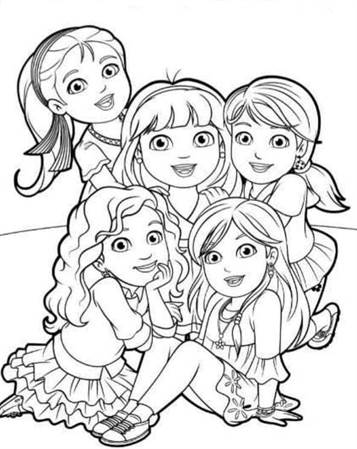 coloring pages dora and friends | Kids-n-fun.com | 6 coloring pages of Dora and Friends