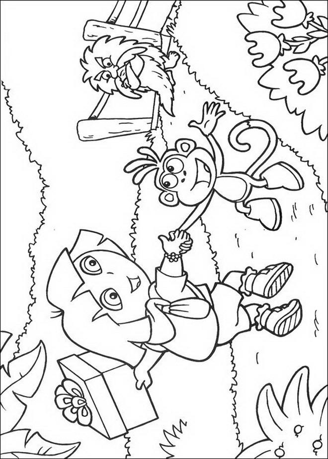 Coloring Pages Kids N Fun : Kids n fun coloring page dora the explorer