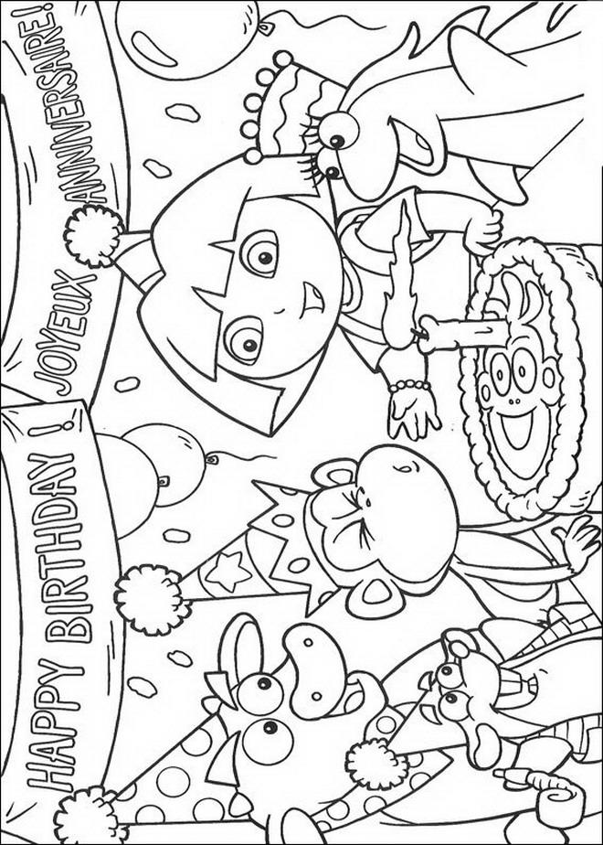 Kleurplaten Dora En Friends.Kleurplaat Dora Boots