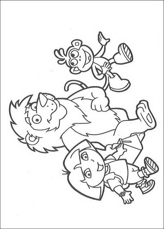 Kids-n-fun.com | 84 coloring pages of Dora the Explorer