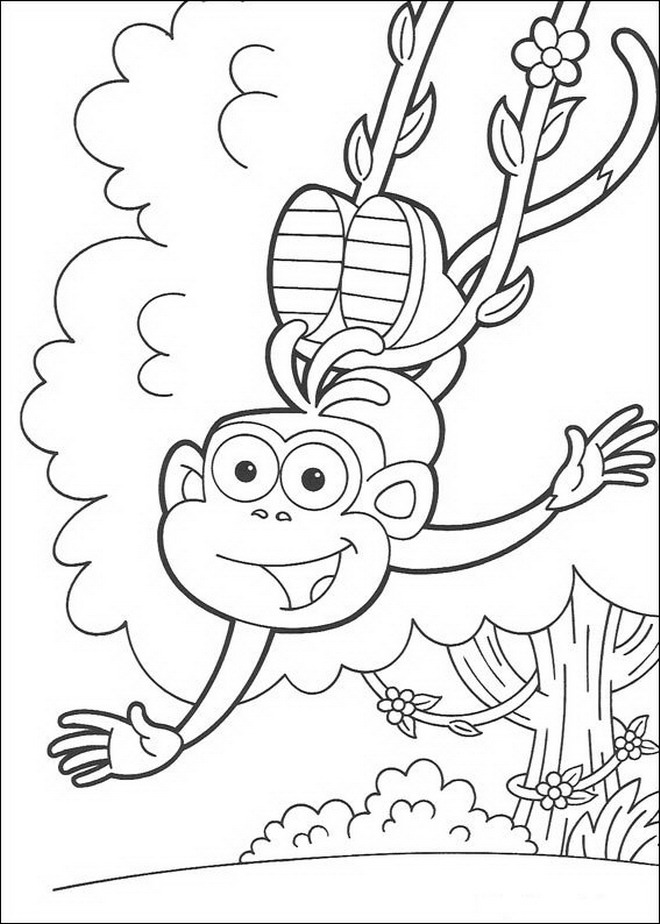 Kidsnfuncom  84 coloring pages of Dora the Explorer