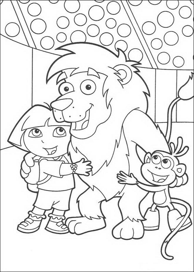 Kleurplaten Dora En Friends.Kids N Fun Co Uk Make Personal Coloring Page Of Dora The Explorer