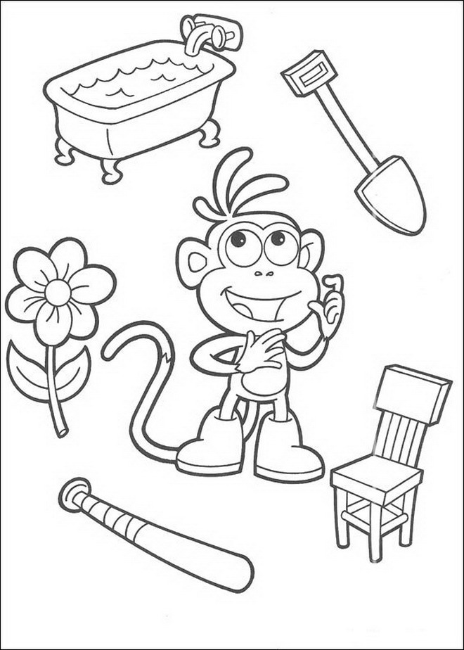 84 Dora The Explorer Coloring Pages