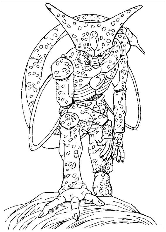 Kidsnfuncom  55 coloring pages of Dragon Ball Z