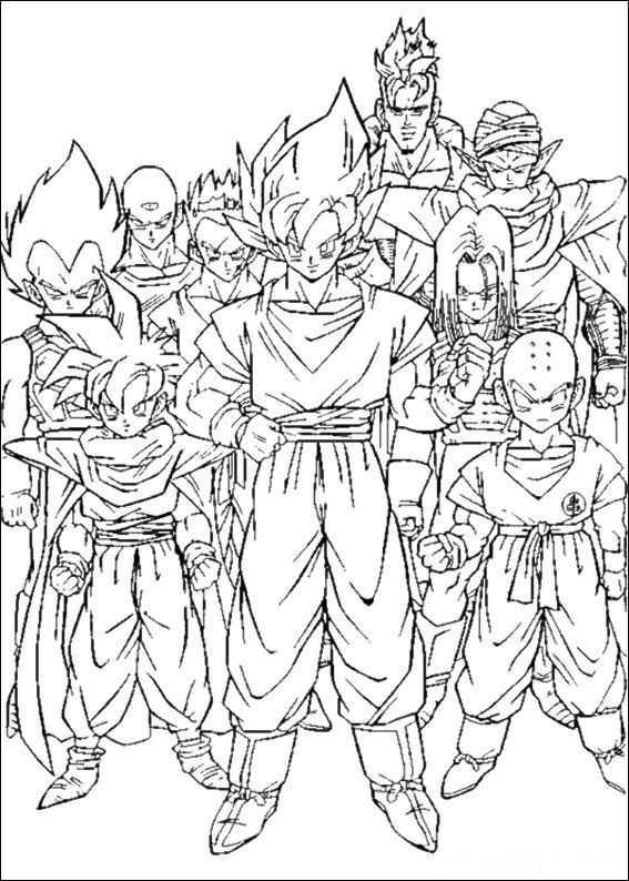 kids n funcouk 55 coloring pages of dragon ball z