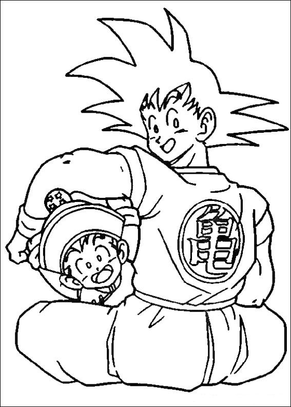 coloring pages dragonballz - photo#20