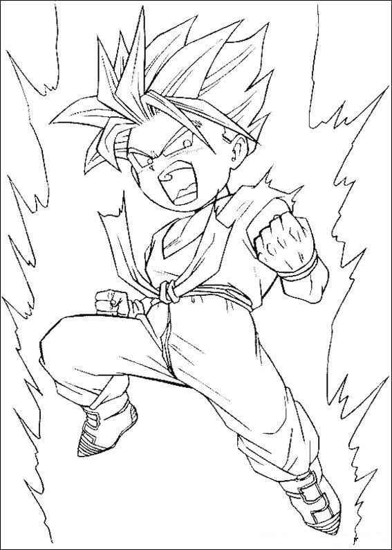 coloring pages dragonballz - photo#39