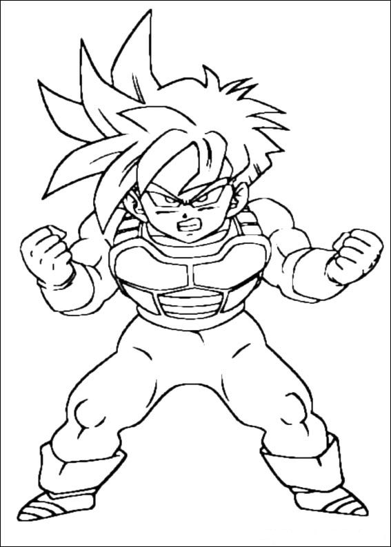 Kids N Fun Com Coloring Page Dragon Ball Z Dragon Ball Z