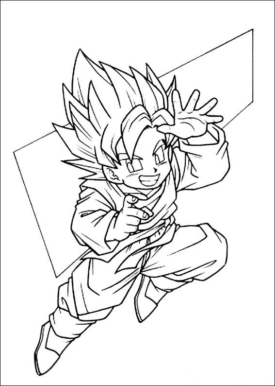 kids n funcom 55 coloring pages of dragon ball z - Dragon Ball Goku Coloring Pages