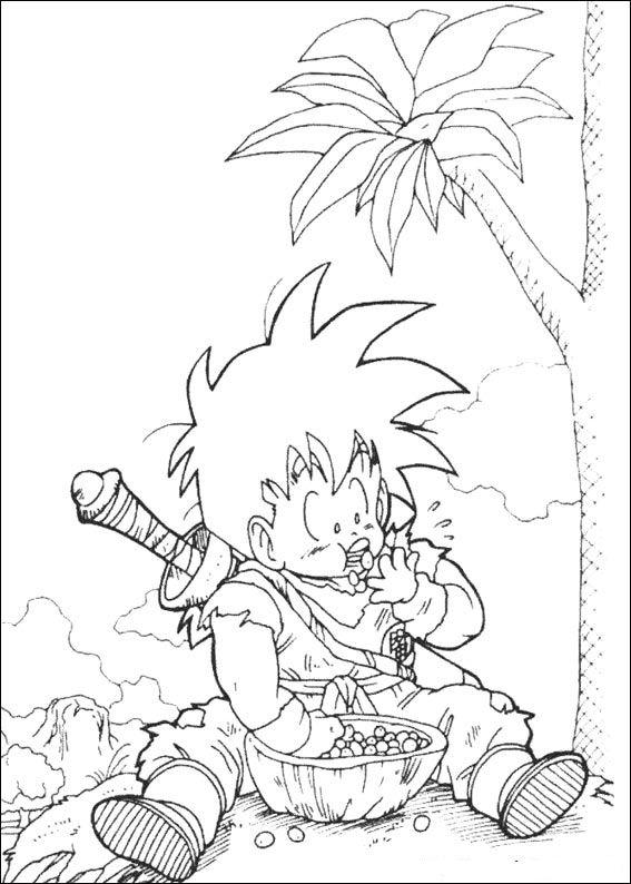 Kids N Fun Co Uk Coloring Page Dragon Ball Z Dragon Ball Z