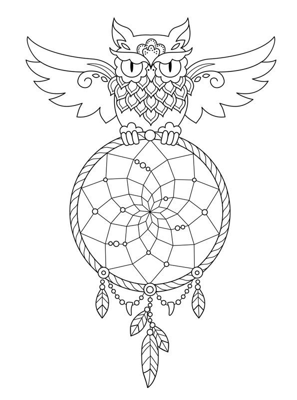 Kids n funcom 16 coloring pages of Dreamcatchers