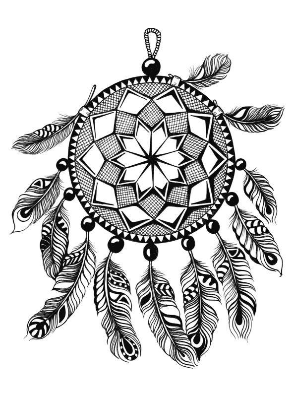 Kidsnfun 16 coloring pages of Dreamcatchers