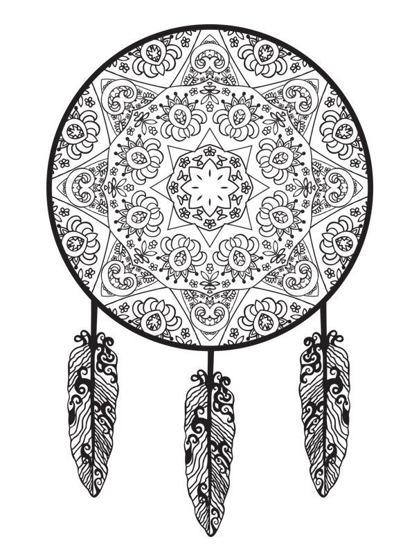Kids N Fun Com 16 Coloring Pages Of Dreamcatchers