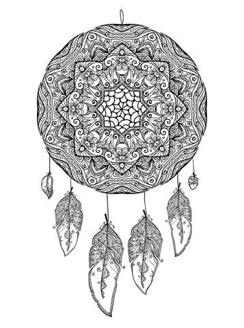 picture relating to Legend of the Dreamcatcher Printable referred to as  16 coloring web pages of Dreamcatchers
