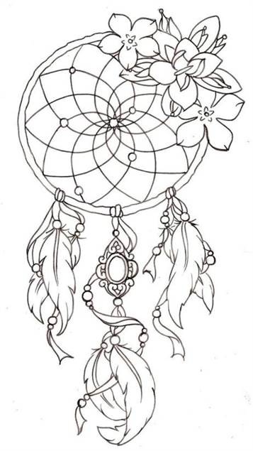graphic relating to Legend of the Dreamcatcher Printable known as  16 coloring webpages of Dreamcatchers