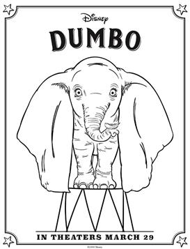 Kids-n-fun.com | 3 coloring pages of Dumbo (2019)