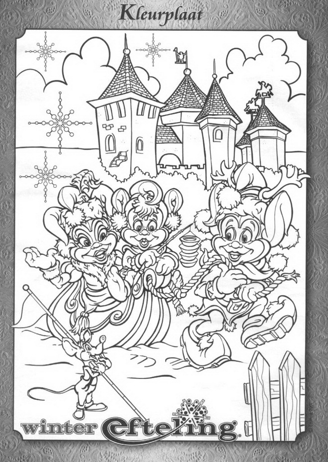 n 22 coloring pages of winter