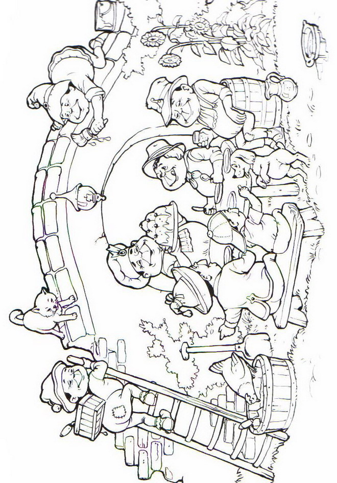 n 31 coloring pages of efteling