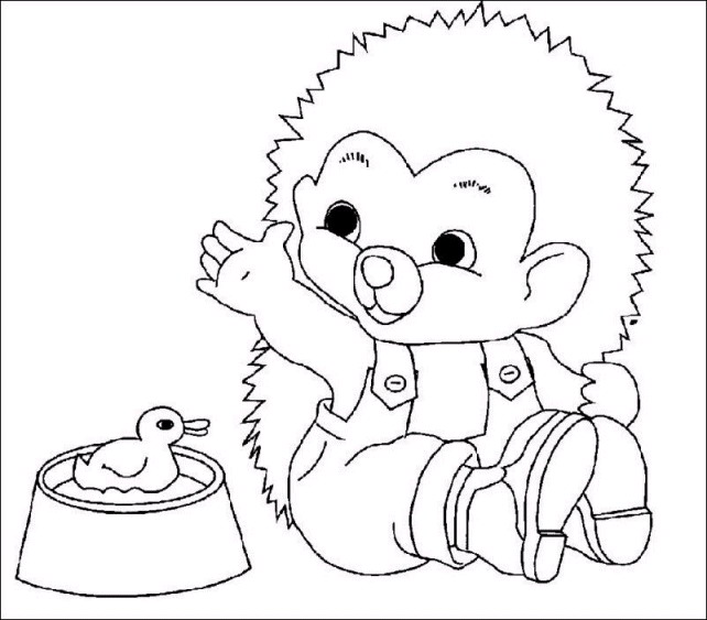 Kids n funcom 32 coloring pages of Hedgehogs