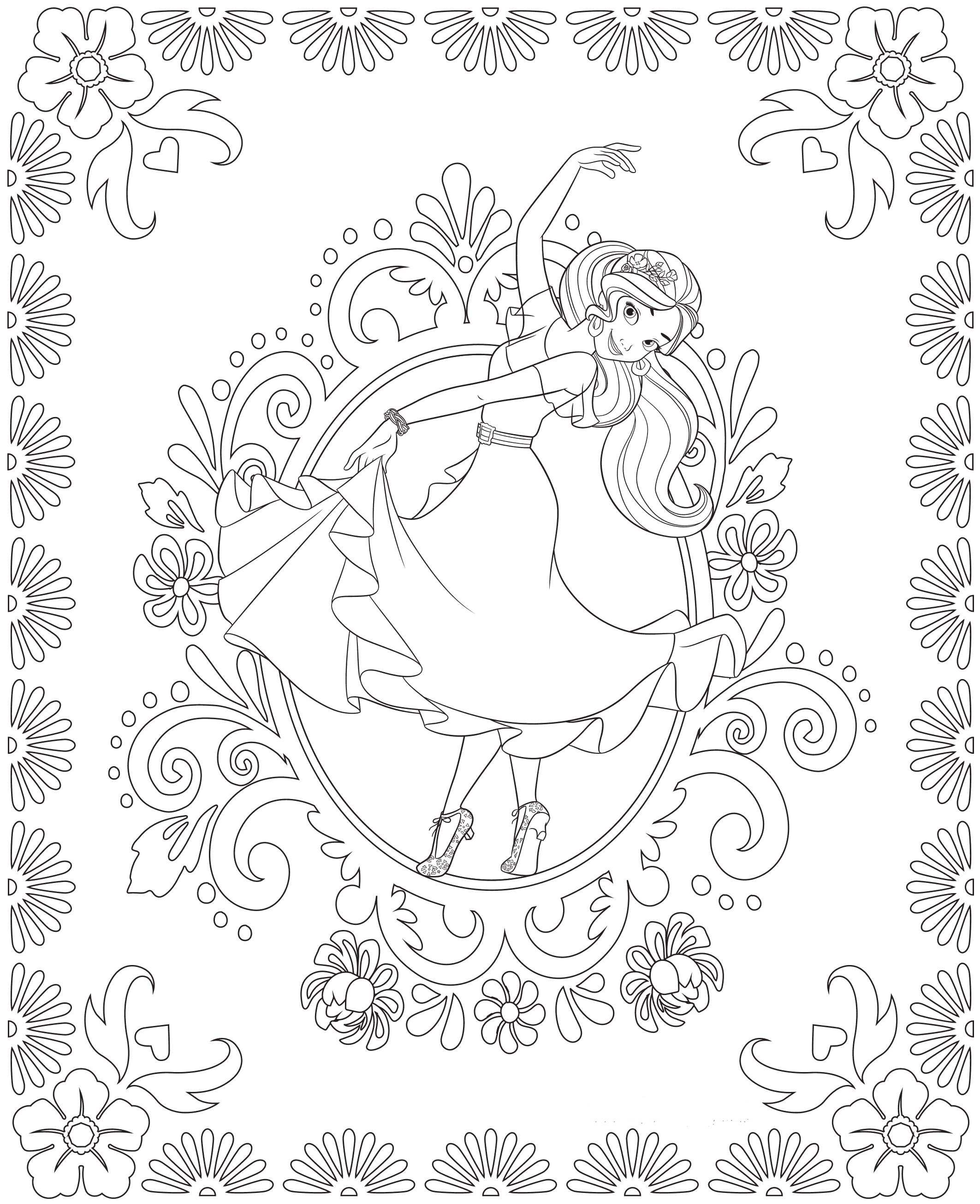 Kids-n-fun.com | 44 coloring pages of Elena of Avalor