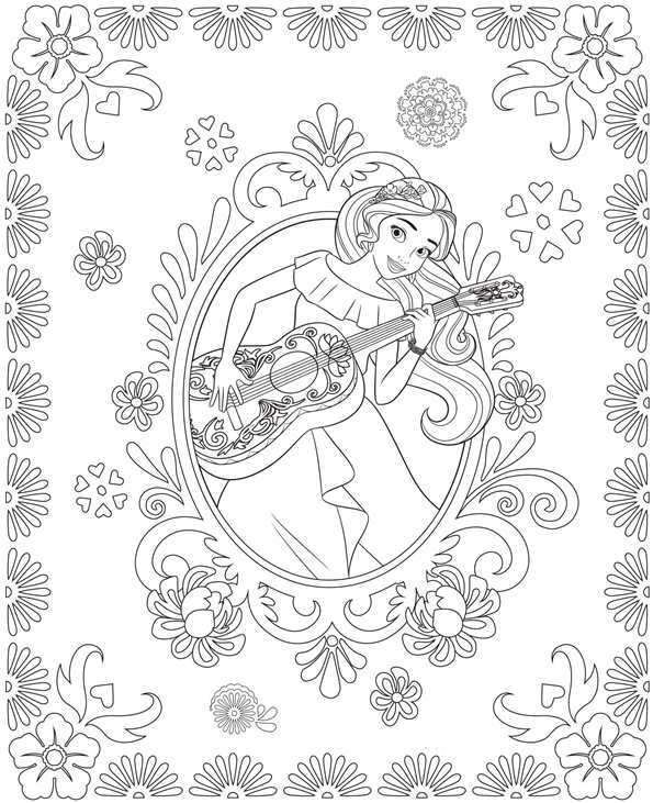 Kids n fun com 44 coloring pages of elena of avalor Mariana Coloring Pages princess elena printables Elena of Avalor Coloring Book Pages Printables