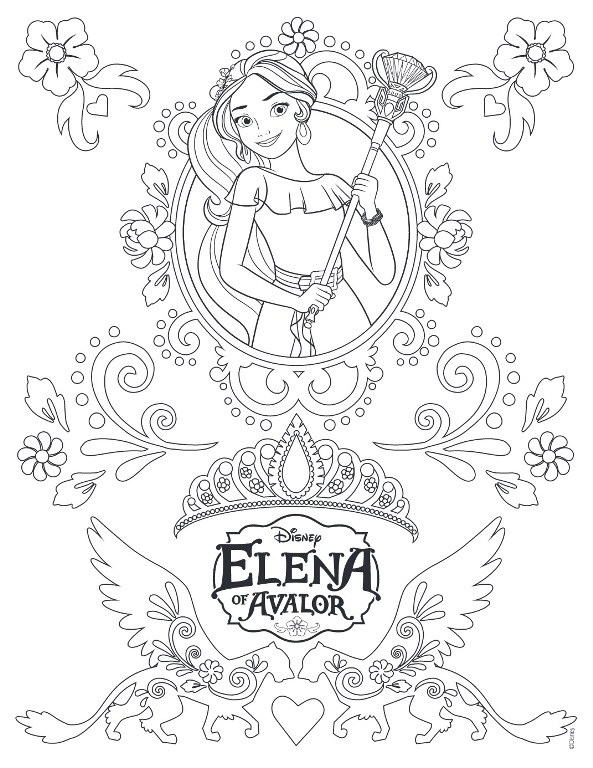 44 elena of avalor coloring pages - Elena Coloring Pages