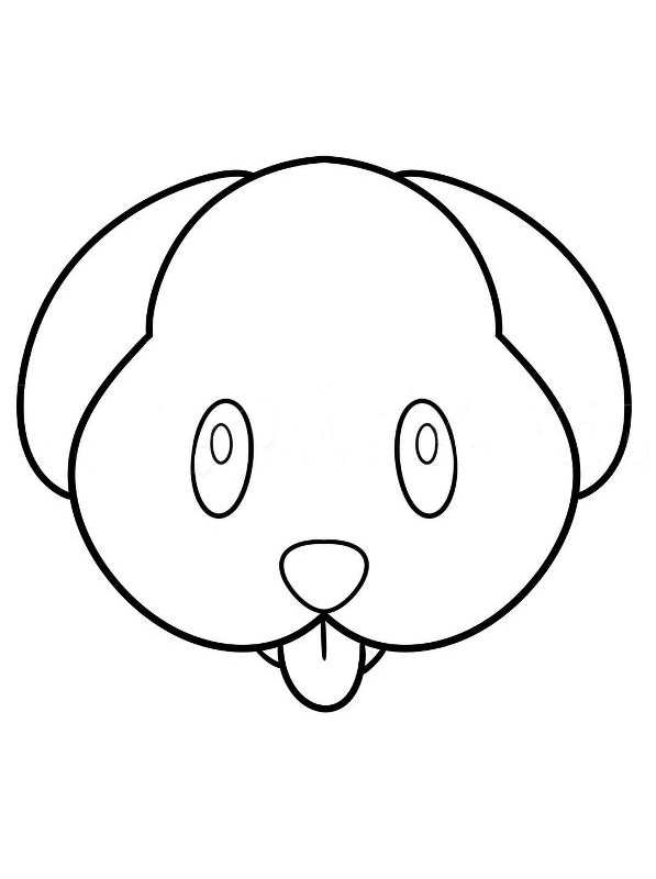 Kids N Fun Com Coloring Page Emoji Movie Dog Face