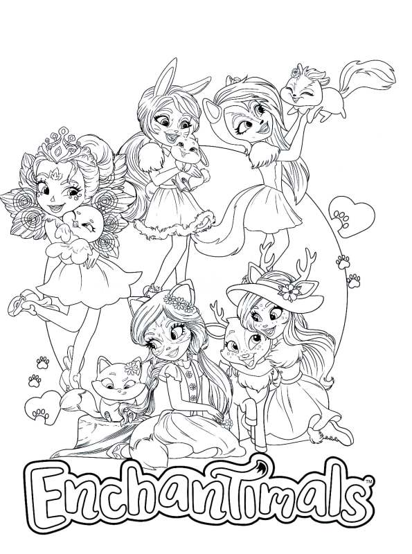 kidsnfun  coloring page enchantimals enchantimals 10