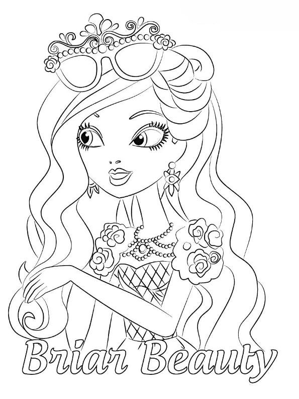 Kids N Fun Com Coloring Page Ever After High Briar Beauty