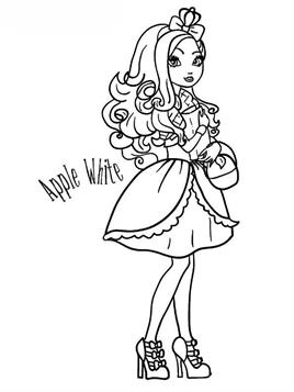 Ever After High - Ashlynn Ella | Coloring pages, Ever after high ... | 357x268