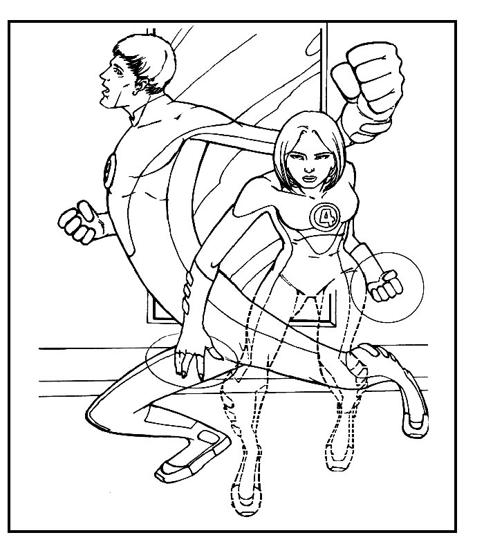 Fantastic Four Colouring Pages (page 2) - Coloring Home | 800x700