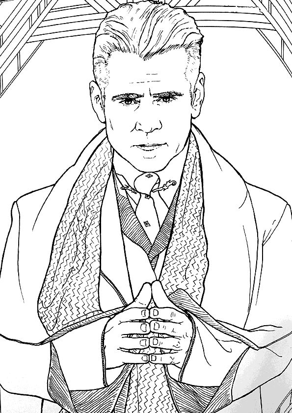Kids N Fun Com 21 Coloring Pages Of Fantastic Beasts And