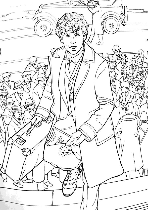 fantastic beasts coloring pages free | Kids-n-fun.co.uk | New coloring pages