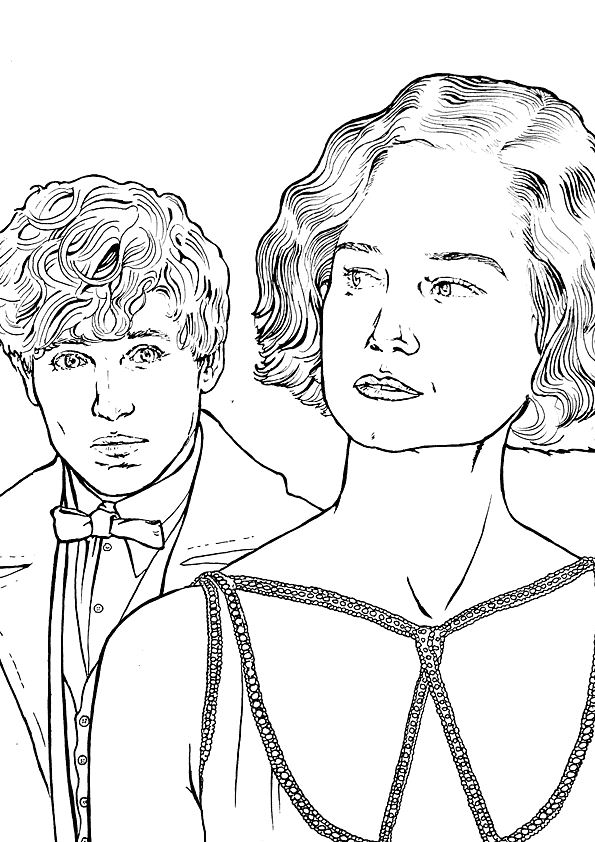 fantastic beasts coloring pages free | Kids-n-fun.com | Coloring page Fantastic Beasts and Where ...