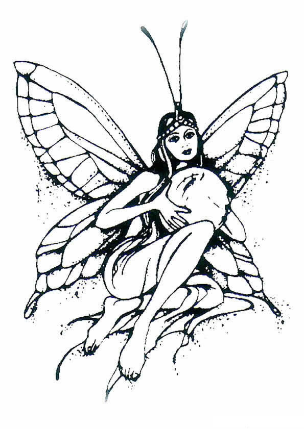 n 40 coloring pages of fairies