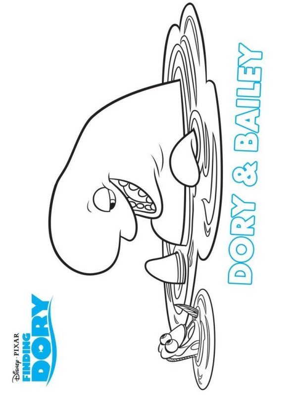 Finding Dory 16 Coloring Pages