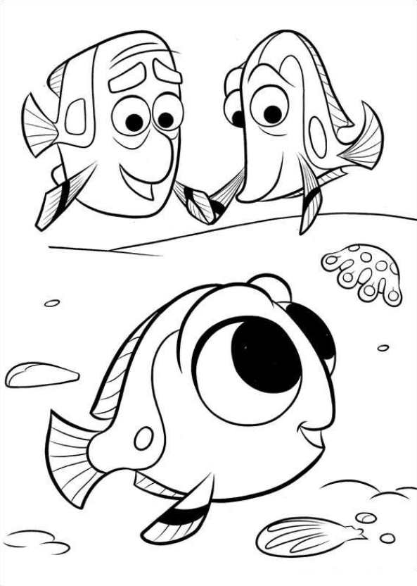 Kids n 16 coloring pages of finding dory for Finding dory coloring pages