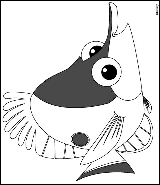 finding nemo - Finding Nemo Characters Coloring Pages