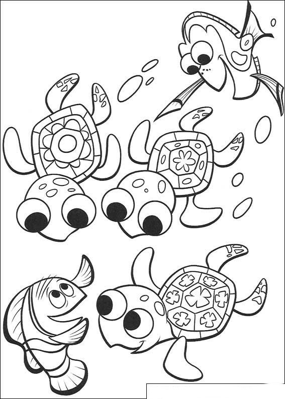 Kids-n-fun.co.uk | 65 coloring pages of Finding Nemo (movie)